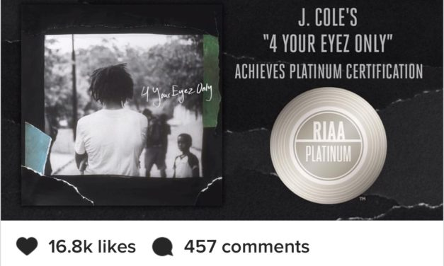 J.Cole's 4 Your Eyez Only Certified Platinum/